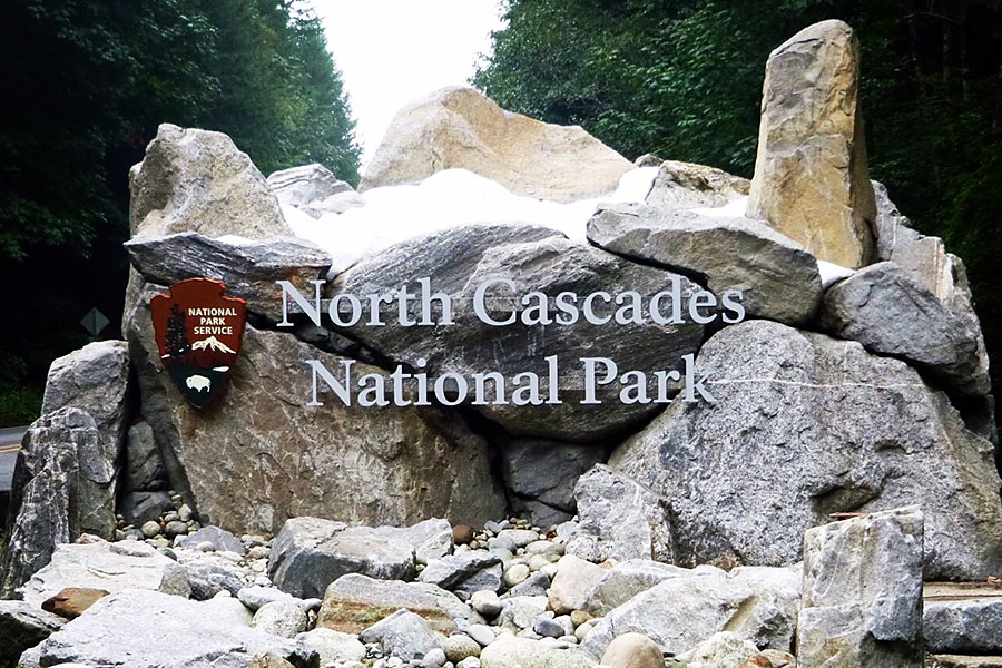 North Cascades NP sign